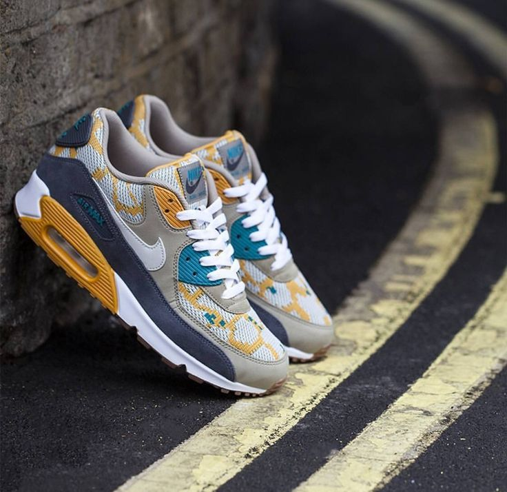 Closer look at the Nike Air Max 90 PA Gold/Light Bone. Coming September.