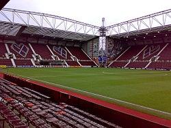 Tynecastle Stadium-Heart of Midlothian FC.