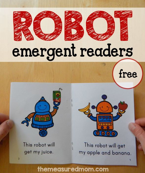 "These free robot books are great for early readers!  They teach the sight words ""this"" and ""do."""