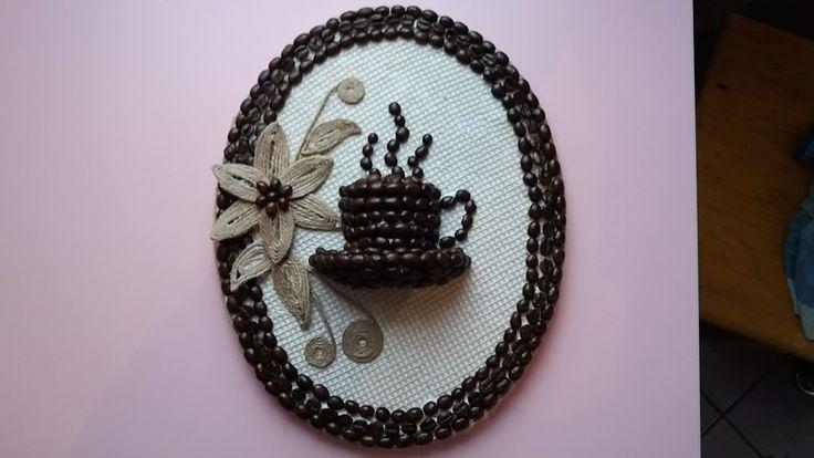 Tutorial tablou cu sfoara si cafea pentru bucatarie---Tutorial picture w...