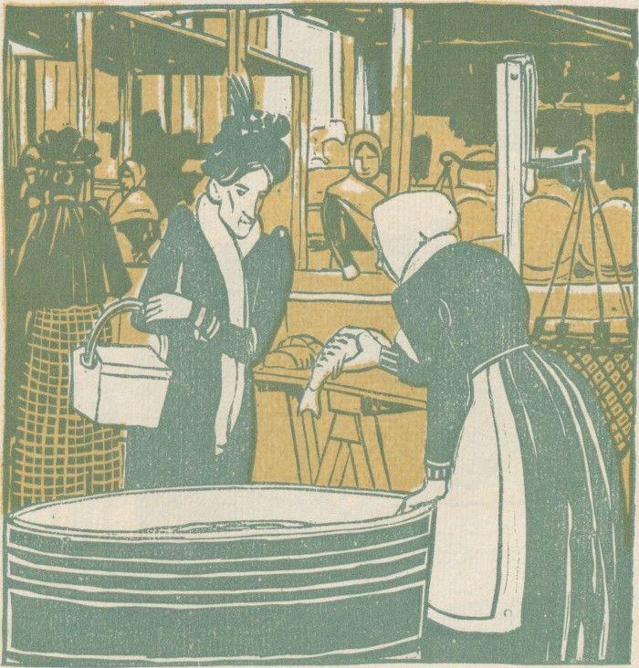 F. König, Fischweiber vom Wiener Naschmarkt, Ver Sacrum, Volume 1, Number 11, 1 June 1903