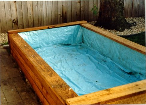 Small above ground pools priscilla 39 s pages my above - How to build a swimming pool out of wood ...