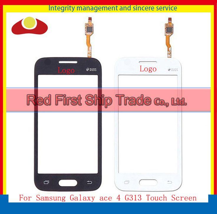 """Original Für Samsung Ace 4 G313 G313H Touchscreen Digitizer Sensor Frontglas Objektiv 4,3 """"Schwarz Und Weiß + tracking-Code"""
