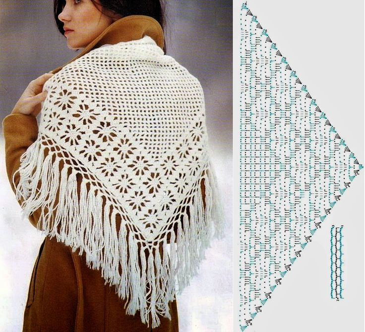1531 besten Häkeln: Stola, Tuch / Crochet Shawl, Wrap Bilder auf ...