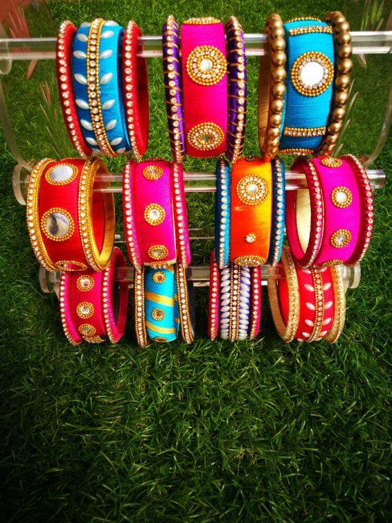 Indian style silk thread bangles