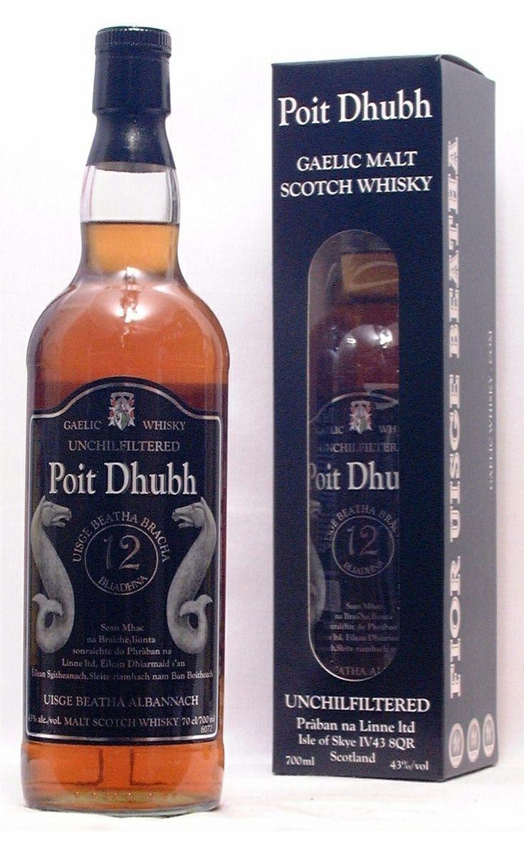 1.Poit Dhubh Gaelic Malt whisky 8 jaar Isle of Skye 2.Poit Dhubh Invergordon Highlands12 jaar