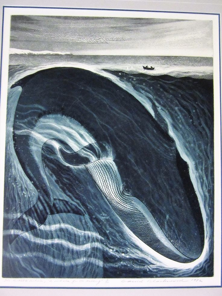 David Blackwood, The Burgeo Whale: A Whale for the Killing, 1972 etching, No. 9 of 50, 20 X 16 inches