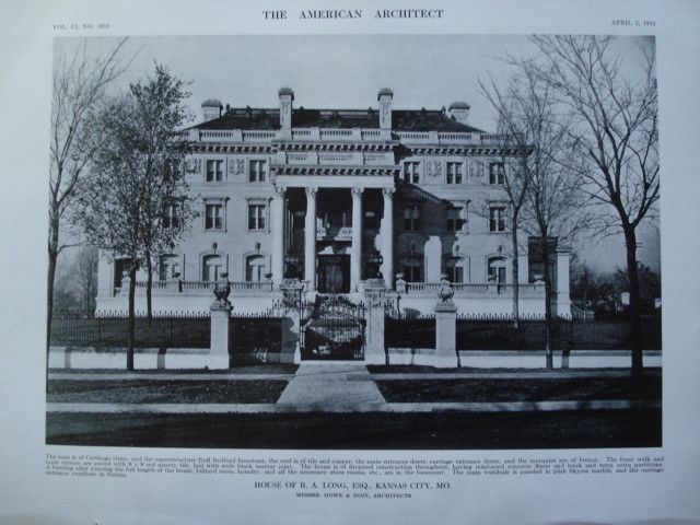 House of R.A. Long, Esq., Kansas City, MO, 1912, Messrs. Howe & Hoit
