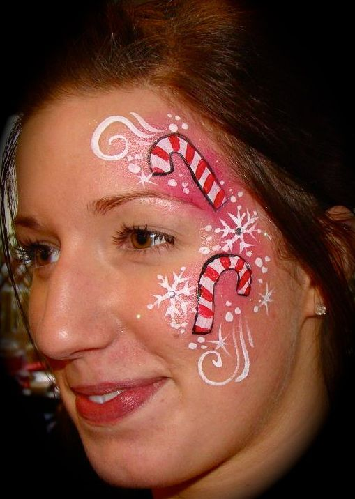 candy cane face paint - Google Search