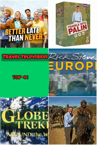Travel Television Top 4, our favorite programs that inspire our travels.