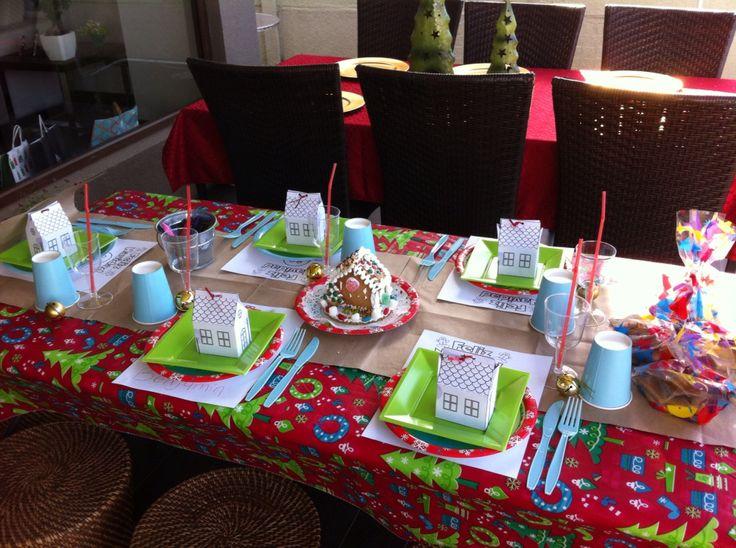 Mesa infantil para Navidad