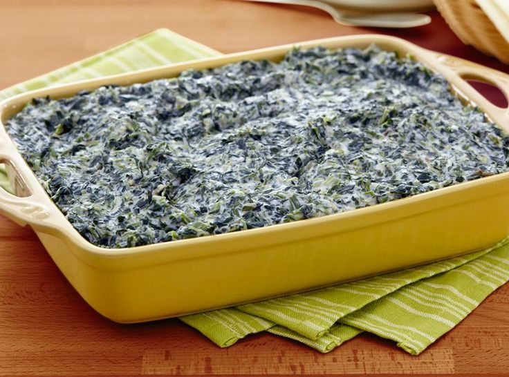 Even the kids will try this Creamed Spinach when they hear it's seasoned with ranch. What might be even better?  No oven time required for this recipe -- a big advantage when you're trying to finish cooking the turkey while prepping sides for your Thanksgiving table.