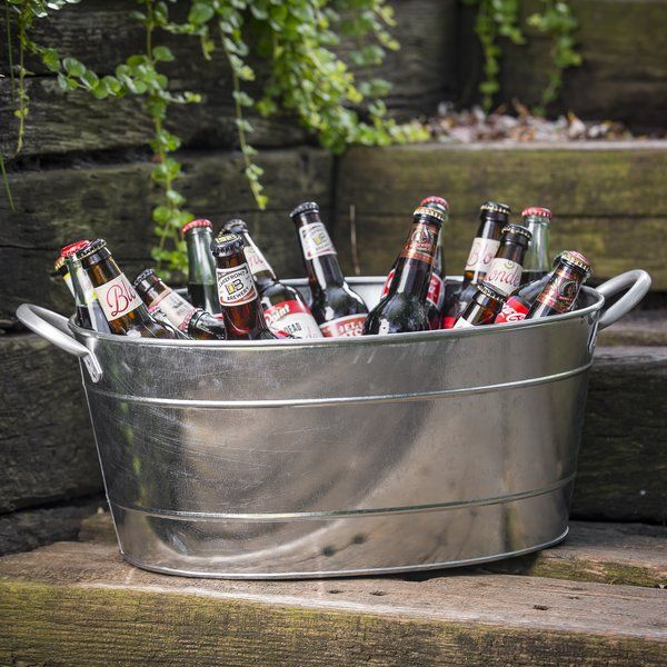 710 Oz Galvanized Steel Beverage Tub With Images Beverage Tub