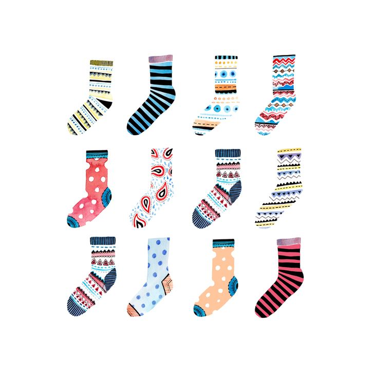 funky socks felicity french illustration design