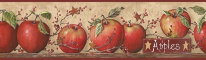 Yorks Country Apple with Pip Berries Wall Paper Border CB5558BDB - Wallpaper & Border | Wallpaper-inc.com