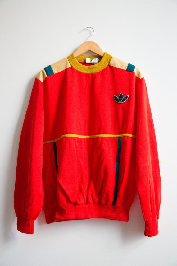 1973 Rare Vintage Adidas Sweat-shirt Made In France / Collector Sweater Size M VENTEX FRANCE ACRYLIC AUTHENTIQUE 43 YEARS OLD !! Very good condition / no stain, no hole, no trash    (°€°) --> FOR BULK ORDERS CONTACT US <-- (°€°)