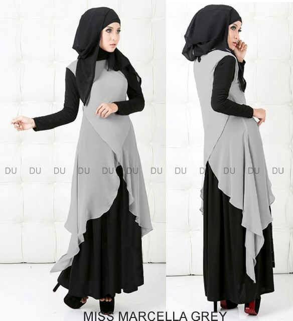 Detail Produk Untuk Baju Muslim Syar 39 I Miss Marcella Grey P160 Ini Silhkan Lihat Pada Info