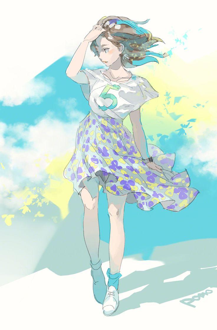皐月風,/anime girl Illustration