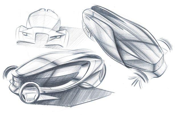 Futuristic car - sketch.