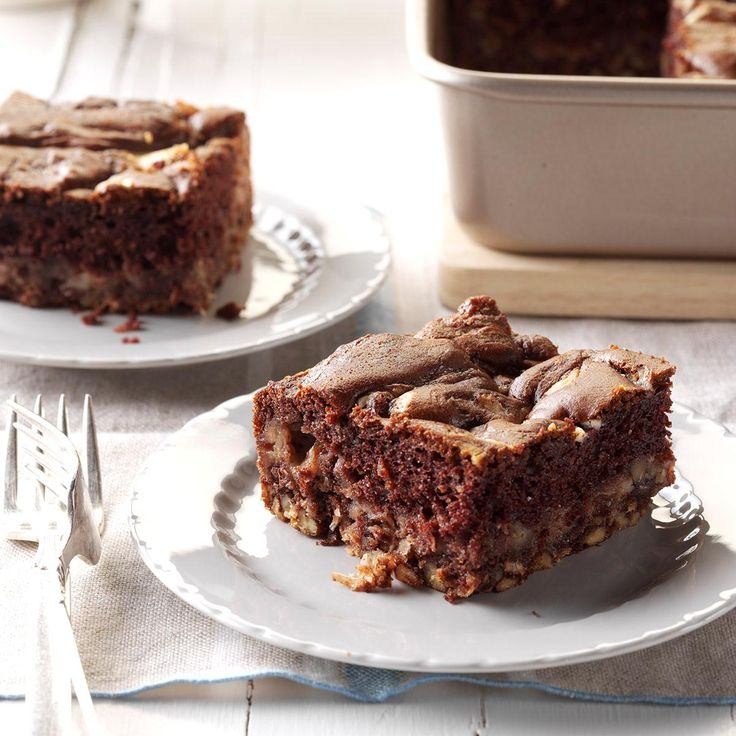 German Chocolate Dump Cake Recipe -We make this for Sunday lunches when the whole family gets together. The cream cheese topping is so good, it doesn't need frosting.