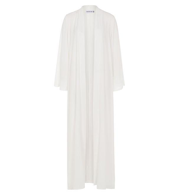White Georgette Kimono - £37.99 : Inayah, Islamic Clothing & Fashion, Abayas, Jilbabs, Hijabs, Jalabiyas & Hijab Pins