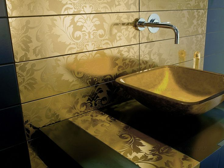 Luxury Wall Tiles | Dune Damasco Pure Golden | Tilestop