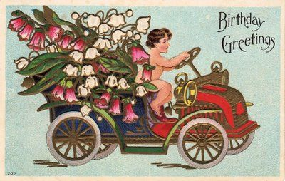 *The Graphics Fairy LLC*: Anniversary or Birthday -- this links to the page with multiple posts of downloadable birthday or anniversary graphicsVintage Graphics, Vintage Cherub, Free Vintage, Flower Cars, Birthday Cards, Graphics Fairy, Belle Cars, Cars Birthday, Graphics Fairies