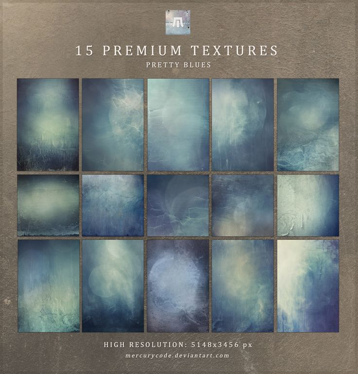15 Premium Textures: Pretty Blues by mercurycode.deviantart.com on @deviantART