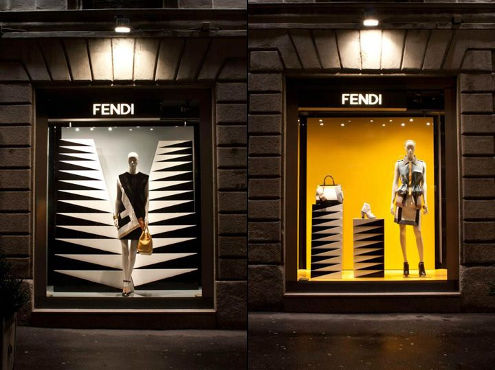 Fendi shop windows, Milan | Visual Merchandising | Pinterest | Milan,  Visual merchandising and Window displays