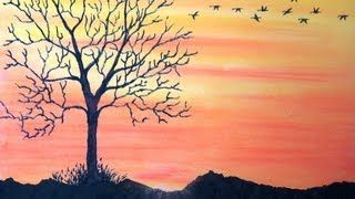 easy chalk drawings   how to draw a sunset in chalk pastels beginner chalk drawing ...