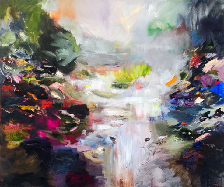 CATHY LAYZELL. Wilderness, 2016. Oil on canvas.