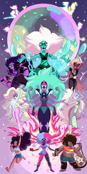 opal, fusions, and steven universe image