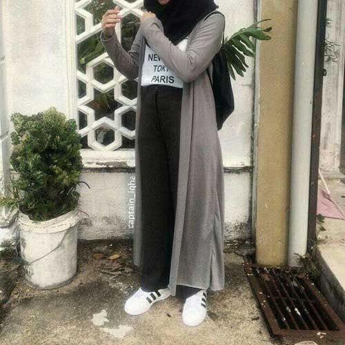 long-grey-cardigan-with-hijab