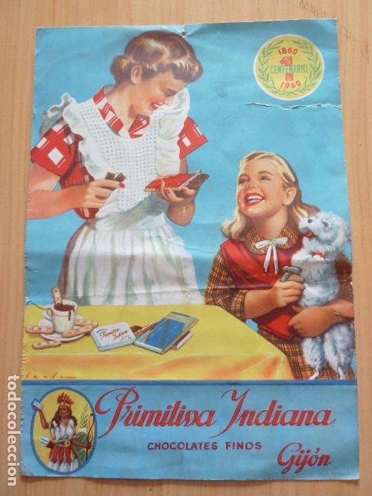 CARTEL PRIMITIVA INDIANA (Coleccionismo - Carteles Pequeño Formato)