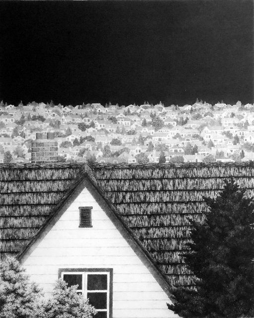 """by  Tanaka Ryohei  1987 Etching and aquatint Edition 85/130  Image Size: 11 3/4"""" x 9 1/2"""""""