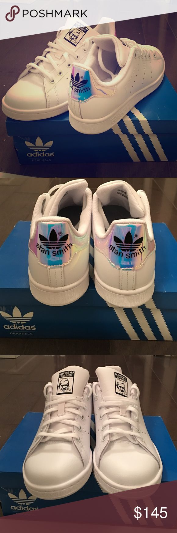 Irredescent Adidas Stan Smith White and iridescent Adidas Shoes Sneakers