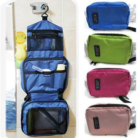 Amazon.com: Travel Cosmetic Makeup Toiletry Purse Holder Beauty Wash Bag Organizer Hanging,Blue: Beauty