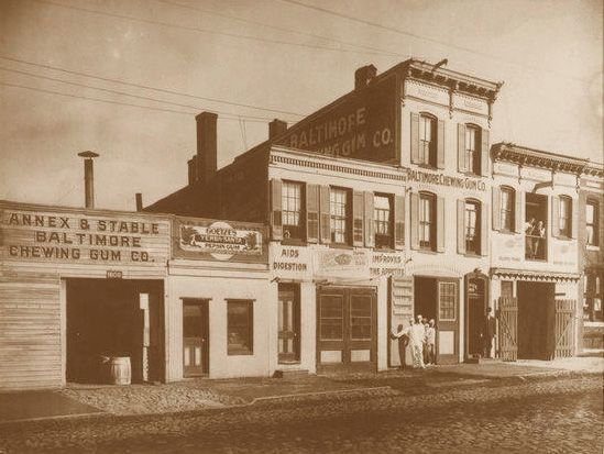 1895  August L. Goetze and his son, William A. Goetze, began manufacturing a variety of confections in Baltimore, Maryland.  The company was then known as The Baltimore Chewing Gum Company, and was located around the corner from the world-famous John Hopkins Hospital.