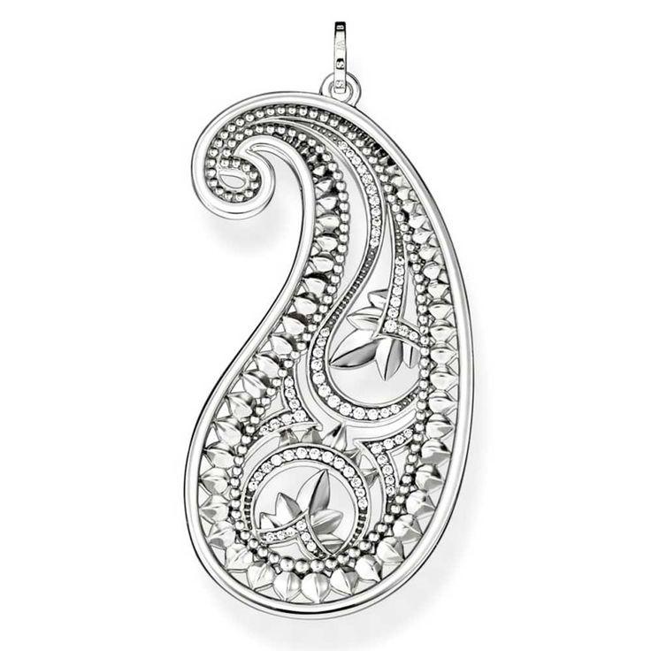 Thomas Sabo Ladies Silver Paisley Pendant PE730-643-14