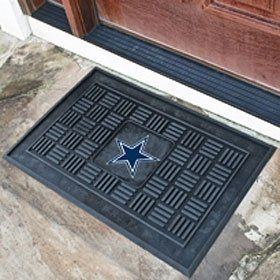 Dallas Cowboys 19''x30'' Medallion Door Mat by Hall of Fame Memorabilia. $39.95. Welcome your guests in style with this officially licensed medallion door mat from Fanmats. Each mat is boldly decorated with the team logo and features 100% vinyl construction with non-skid backing ensuring a rugged and safe product. Measures 19''x30'' in size.Images shown may differ from the actual product.