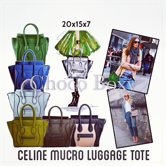 PO #microluggagetote celine bangkok, no min order IDR 300k detail pemesanan line atau whatsapp #fashionbag #tasbangkok #tasfashion #jualanku #chocoboxy