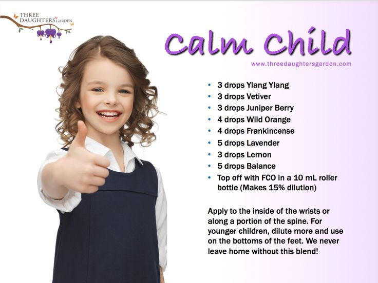 Promote calmness and peacefulness in your kids.  I never leave the house without this blend!