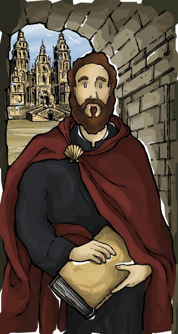 St. James the Greater Prayer Card by ModHMary on Etsy