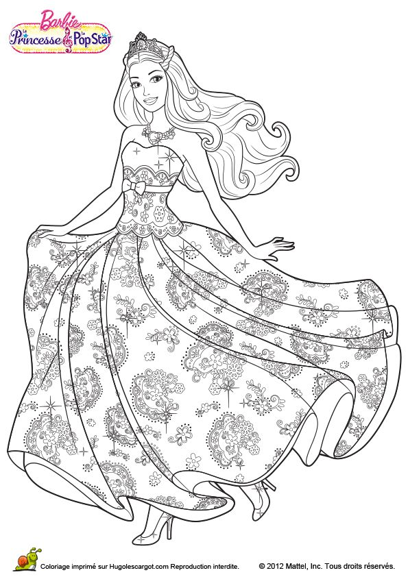 Princess Barbie Coloring Page