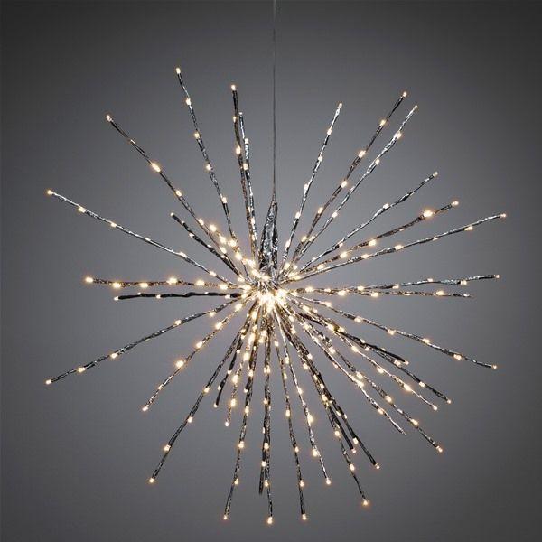 Konstsmide 2897-343 Twinkling LED Silver Ball of Twigs Decoration 84cm