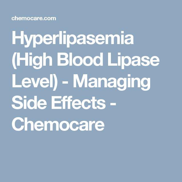 Hyperlipasemia (High Blood Lipase Level) - Managing Side Effects - Chemocare