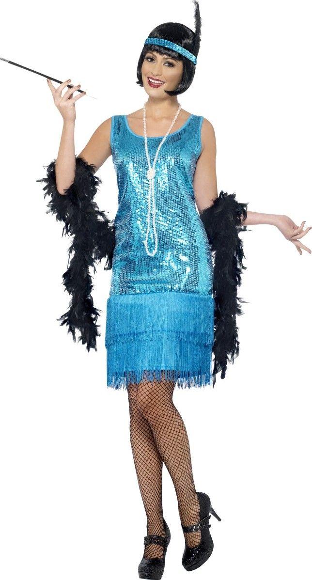 Este vestido cabaret de los años 20 es ideal para una fiesta temática de disfraces.