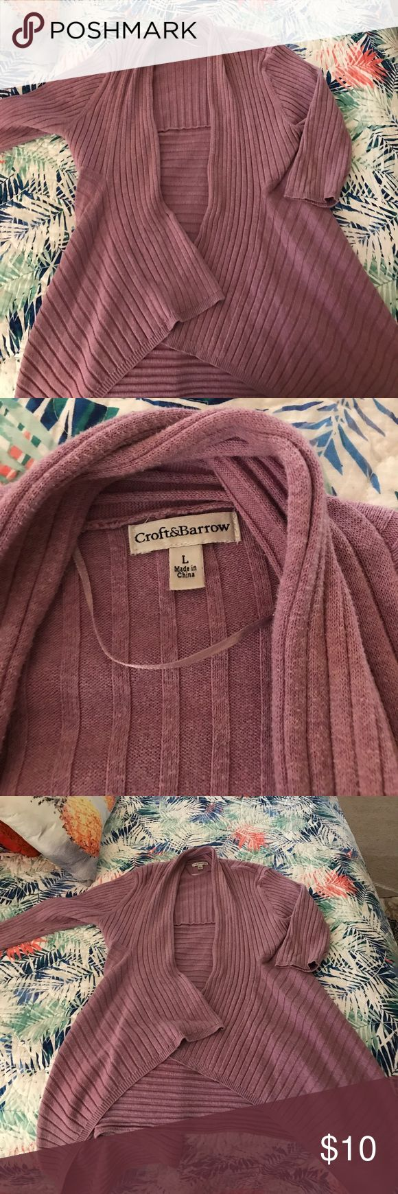 Mid length sweater Ladies mid length lavender sweater. Great asymmetrical lines. Three-quarter length sleeves. croft & barrow Sweaters Cardigans
