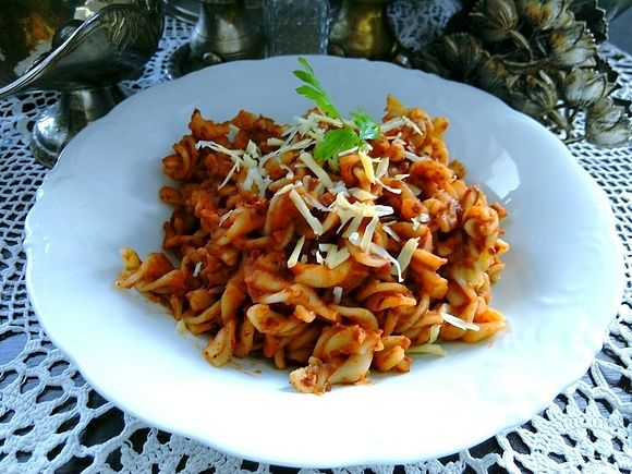 Salsa di fagioli con pasta - czyli sos fasolowy z makaronem