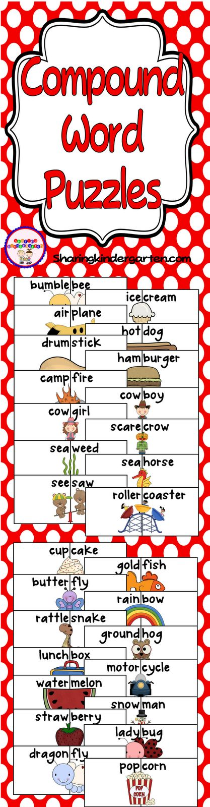Compound Words: Freebie